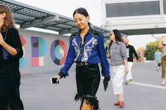 Milan Fashion Week Spring 2017 Street Style - Vogue