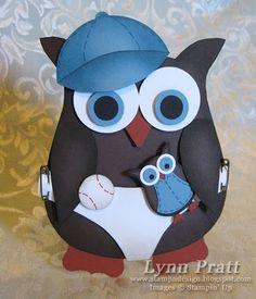 Cute baby boy owl