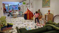 Sant Gervasi-Baby Fun: tomar algo con tu bebé será un placer. Cafeteria con piscina de bolas y tienda. Duqesa de Orleans 6