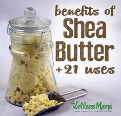 Shea butter uses and benefits for healthy hair and skin Pelo Natural, Belleza Natural, Natural Skin, Raw Shea Butter, Body Butter, Shea Butter For Face, Limpieza Natural, Wellness Mama, Homemade Moisturizer