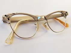 Vintage 1950s Artcraft aluminum cateye glasses by sevendevils, $35.00