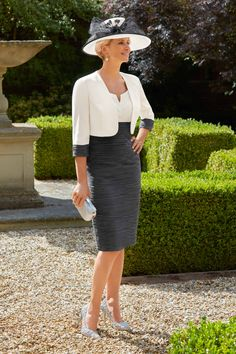 Condici Mother of the Bride Outfits 2019 - Fab Frocks Mother Of Groom Outfits, Mother Of The Bride, Ascot Dresses, Short Fitted Dress, Frock Dress, Two Piece Dress, Occasion Dresses, Beautiful Outfits, Marie