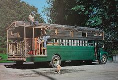 bus conversion with porch, Rolling Homes: Handmade Houses on Wheels is a photo book by Jane Lidz, published in 1979