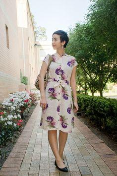 NoraFinds | Vintage Blog Vintage Blogger Sydney | Vintage 1940s purple white floral dress Adored Vintage