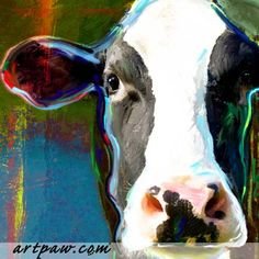 @Lora Ward-this is for you as the cow of the day! artpaw.com