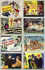 Abbott and Costello ESPECIAL lote de 8 Surtido 8x10 LC TC SA Prints MONSTRUOS