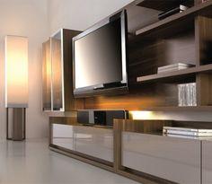 meuble tv design mural varsovie atylia | atylia ♥ nouveautés ... - Meuble Tv Bibliotheque Design