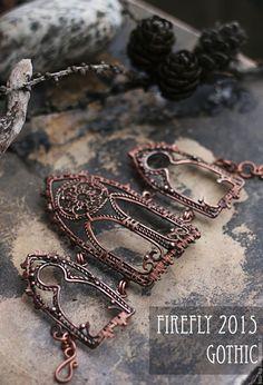"copper wire bracelet""Notre-Dame"""