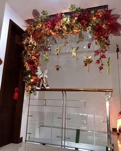 Navidad Diy, Ideas Para, Ladder Decor, Garland, Holiday, Christmas, Wreaths, Decorating, Home Decor