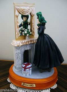 Gone with The Wind Scarlett in Green Bonnet Retired Musical Fig by SFMB | eBay