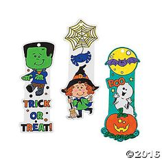 Color Your Own Halloween Friends Bookmarks. Remind little ghosts and goblins it's fun to read no matter what the season with these paper bookmarks. Kids ...