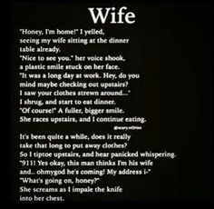 Wife Scary Horror Stories, Short Creepy Stories, Scary Stories To Tell, Spooky Stories, Cute Stories, Telling Stories, Creepy Pasta Stories, Short Stories, Creepy Things Kids Say