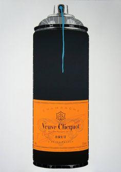 "Saatchi Art Artist Campbell La Pun; Painting, ""Veuve Clicquot (Ed. 6 of 6)"" #art"