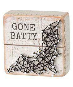 'Gone Batty' String Box Sign