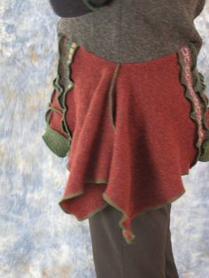 Recycled  Reclaimed Wool Sweater Tunic Lagenlook by GrayGray58, $108.00
