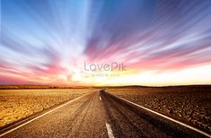 An aesthetical freeway Highway, road, highway, highway, broad, western desert, clouds, sunset, beautiful, background, material, art background, art, photography, background, wallpaper, atmosphere, crossing, yellow, gold, western regions, desert, wild, wilderness, sky, road Material Art, Highway Road, Road Photography, Image File Formats, Art Background, Free Photos, Wilderness, Clouds, Templates