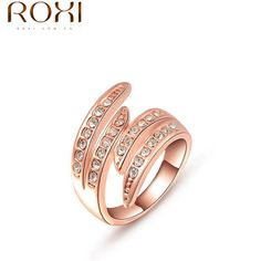 Presente de natal rosa banhado a ouro anel cristais Austríacos italina anel Nickle preços livres fábrica antialérgicos 2010805210