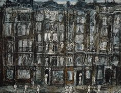 Apartment Houses, Paris by Jean Dubuffet (French, Le Havre Paris) Date: 1946 Medium: Oil with sand and charcoal on canvas Accession Number: * I love It Sketches Arquitectura, Lascaux, Art Informel, Jean Dubuffet, Art Brut, Le Havre, Arte Popular, Naive Art, Art For Art Sake