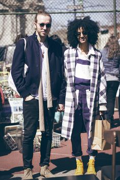 I know exactly where this photo was taken.  Street style perfection spotted in Brooklyn