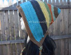 Pixie Hat Crochet Hood women/teen hat Gnome Hat by 4TheLuvOfYarn