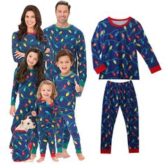 0784bff7ef Xmas Family Matching Pajamas Lighten Up Adult Women Men Kid Sleepwear  Nightwear Family Pyjamas Set