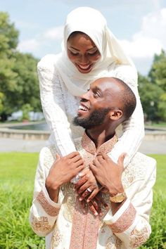 Beautiful Black Muslim Wedding Couples Images for Inspiration Couples Musulmans, Muslim Couples, Wedding Couples, Muslim Wedding Gown, Wedding Vows, Wedding Prep, Boho Wedding, Wedding Ideas, Wedding Dresses