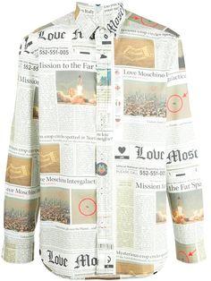 Love Moschino newspaper print shirt