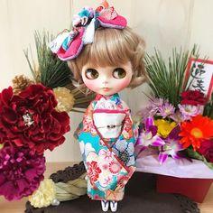 ✨️HappyNewYear✨️ 今年も楽しくドル活&お洋服作りがたくさん出来ますように💕2017年もどうぞよろしくお願い申し上げます💕 Petite*Kachu Sakura ・ #happynewyear #ブライス #ブライスアウトフィット #着物 #カスタムブライス #blythe #blythestagram #blythedress #doll #dolldress #kimono #customblythe