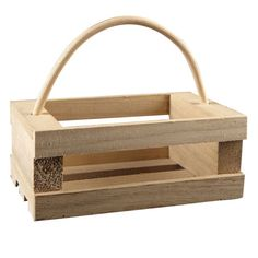 Add your creative touch to this ready to finish wood crate. It's a perfect home décor box t...