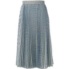 MSGM check pleated skirt ($657) ❤ liked on Polyvore featuring skirts, bottoms, white, checkerboard skirt, checkered skirt, pleated skirt, white knee length skirt and white pleated skirt