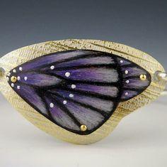 Mary karg designs. Color pencil on copper and sterling bracelet.