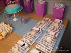 Sleepover Ideas- decorate the pillow cases, get cute slippers, fun hourly balloons.