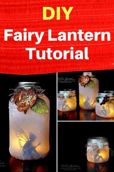 How To Make An Adorable Fairy Lantern - DIY Fairy Lantern Tutorial will let you add a bit of whimsy to your garden or decor! Diy Gifts For Mom, Diy Crafts For Kids, Craft Ideas, Craft Projects, Jar Fillers, Fairy Lanterns, Fairy Gifts, Fairy Jars, Mason Jar Crafts