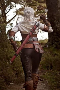 Made by me, for the Witcher cosplay competition - I spent about three months on this costume, and got a lot of practice sewing with leather! I've seen other Ciri cosplayers complaining about the co...