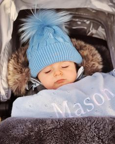 "Fallon Houtman on Instagram: ""Wrapped up warm against the wind, rain and hail... Dreaming of Spring! ☺️😴💤 #masonvalentine #45weeksold"""