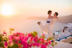 Santorini wedding. Photo by Kirill Babenkoff. | www.mysweetengagement.com