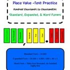 Colorful Place Value Test Practice Task Cards with Student Recording Sheet and Answer Key. Use these task cards as a Center Activity for a group or...