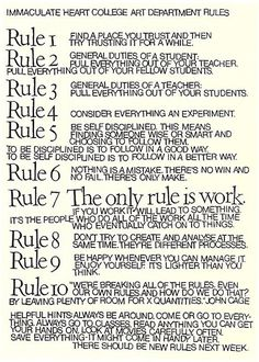 10 Rules for Students, Teachers, and Life by John Cage and Sister Corita Kent – Brain Pickings