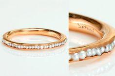 Teeny tiny fresh water pearl ring... I LOVE this... Satomi ...