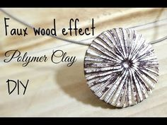 Faux wood pendent polymer clay tutorial ENGLISH - YouTube