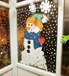 Etkinlik Vintage Christmas Crafts, Easy Christmas Decorations, Christmas Tree Themes, Christmas Crafts For Kids, Simple Christmas, Christmas Lights, Holiday Decor, Christmas Window Display Home, Watercolor Christmas Cards