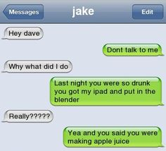 Funny Texts Pranks Laughing So Hard Guys 30 Best Ideas Funny Drunk Texts, Funny Text Memes, Text Jokes, Drunk Humor, Funny Quotes, Stupid Texts, Epic Texts, Text Pranks, Hilarious Texts