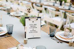 Tischdekoration Hochzeit weiß schwarz urban minimalistisch, Tischdeko Hochzeit #urban #hochzeit #weiß #schwarz We do BBQ – eine DIY Industrial Chic Hochzeit