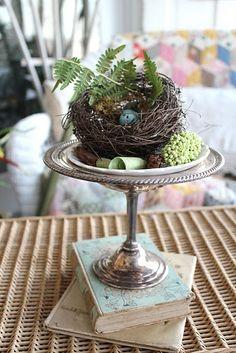 Spring #wedding centerpiece with bird nest - - get inspired at diyweddingsmag.com