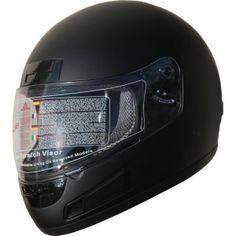 DOT Full Face Motorcycle Sports Bike Helmet 898 Matt Black (L)