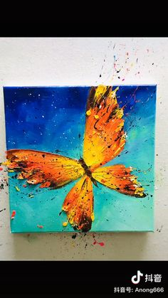 Modern Art Paintings, Colorful Animal Paintings, Abstract Animal Art, Oil Paintings, Oil Painting Abstract, Acrylic Painting Animals, Butterfly Acrylic Painting, Flower Art Drawing, Diy Canvas Art