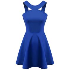 Blue Plain Sleeveless Mini Going Out Polyester Spaghetti Strap A Line Hollow Dresses, S, M, L Plain Blue Style: Going Out Polyester Decoration: Hollow Bust(cm)…