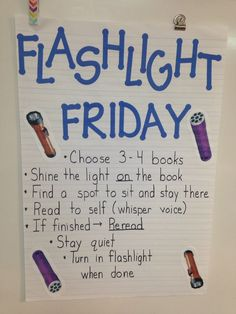 Is silent reading time a struggle in your classroom? Here are some unique and fun strategies to use in your classroom to improve your students' independent and silent reading time. Flashlight Friday makes silent reading fun and exciting for students. Classroom Fun, Classroom Activities, Future Classroom, 3rd Grade Classroom, Camping Theme For Classroom, Classroom Reading Nook, Reading Group Activities, Classroom Prizes, 3rd Grade Activities