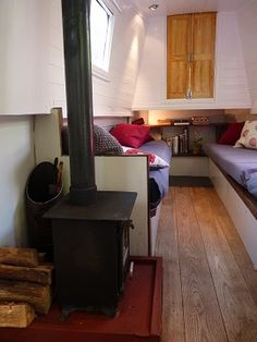 **this is a boat interior and the page has been removed but like the look of 2 single beds/sofas