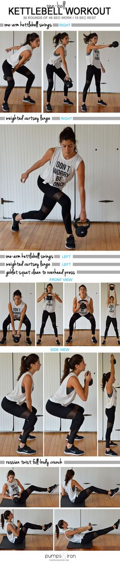 One-Bell Kettlebell Workout | Posted By: CustomWeightLossProgram.com |